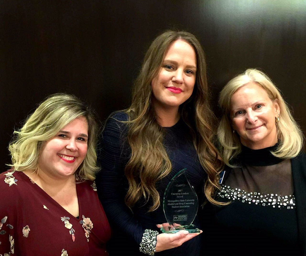 Addiction counseling students win national award